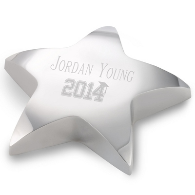 Personalized Star Paperweight, Graduation Gift - $25.00