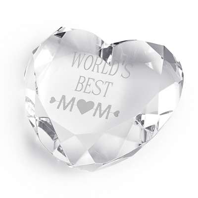 Engraved Heart Paperweight For Mom