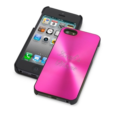 Personalized Pink iPhone 5 Case with Two Lines