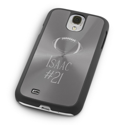 Personalized Samsung Case with Lines and Football Design - Phone Cases & Accessories