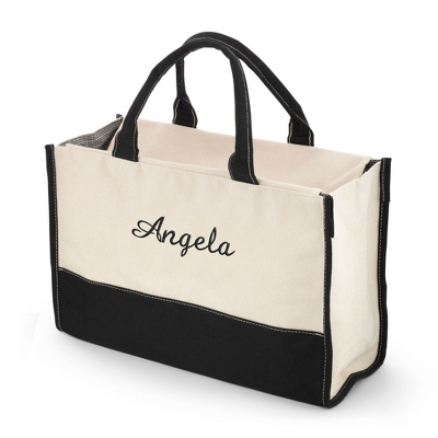 Embroidered Canvas Tote Bag with Name Included - UPC 825008042278