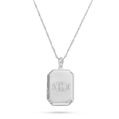 Personalized Classic Square Locket