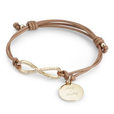 Personalized Infinity Friendship Bracelet with complimentary Filigree Keepsake Box