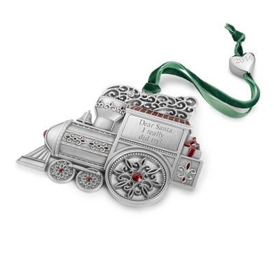 2014 Personalized Pewter Train Christmas Ornament - UPC 825008044968