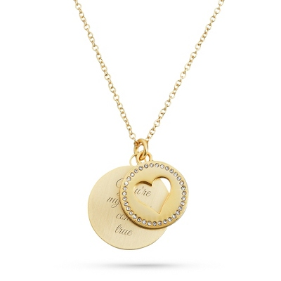 Golden Heart Necklace with complimentary Filigree Heart Box - Fashion Necklaces