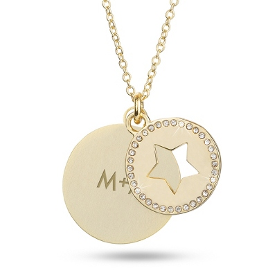 Gold Star Swing Necklace with complimentary Filigree Keepsake Box - Fashion Necklaces