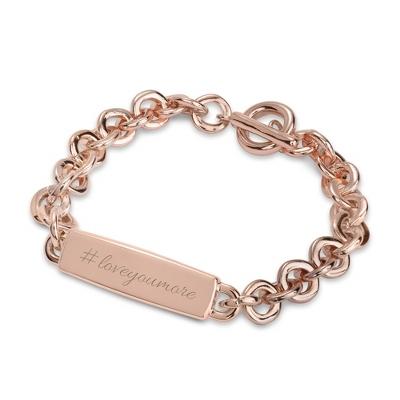 Rose Gold ID Bracelet with complimentary Filigree Keepsake Box - $40.00