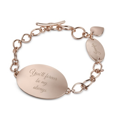 Engraved Rose Gold Jewelry