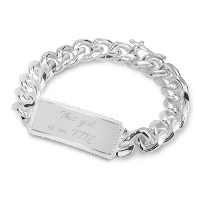 Chunky Bling ID Bracelet with complimentary Filigree Keepsake Box - Top Bridesmaid Gifts