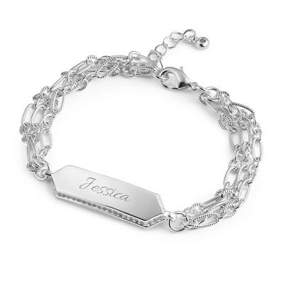 Multi Chain Women's ID Bracelet - $50.00
