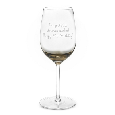 Smoky Grey Personalized Wine Glass
