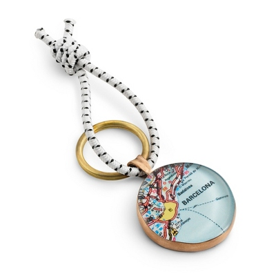 Bronze Custom Map Regatta Key Chain