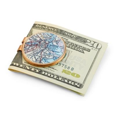 Bronze Custom Map Money Clip - Men's Accessories