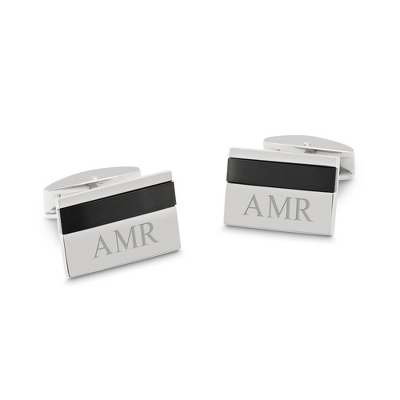 Titanium Accented Cuff Links with complimentary Tri Tone Valet Box - $45.00