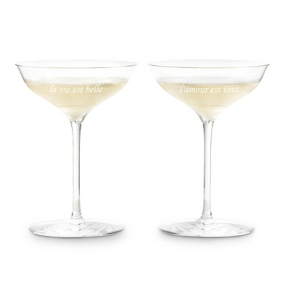 Personalized waterford elegance champagne belle coupe glasses by things remembered triloo - Waterford champagne coupe ...