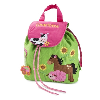 Personalized Farm Girl Quilted Backpack