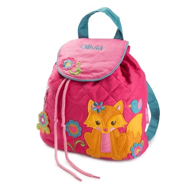 Personalized Fox Quilted Backpack