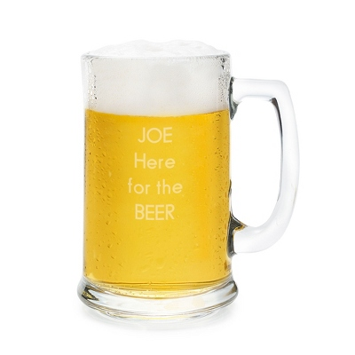 Classic Personalized Beer Mug - UPC 825008052826
