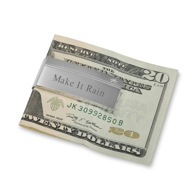 Diamond Accented Personalized Money Clip - $45.00