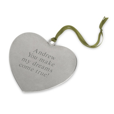 Personalized Pewter Heart Christmas Ornament