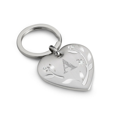 Leaves & Vines Key Chain with Initial and Personalization