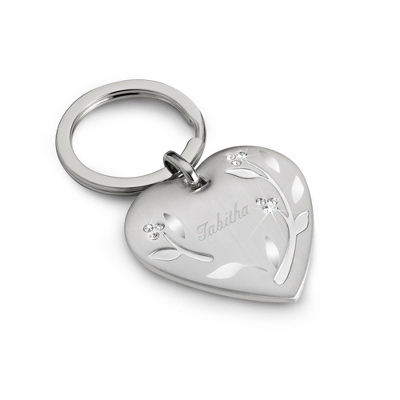 Leaves & Vines Engraved Key Chain - Name and Personalization