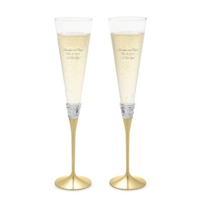 Vera Wang by Wedgwood With Love Gold Toasting Flutes - $85.00