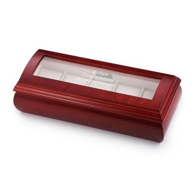 Domed Watch Box with Cherry Finish