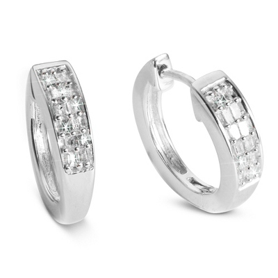 Diamond .10 CT Earrings for Her - Sterling Silver Jewelry