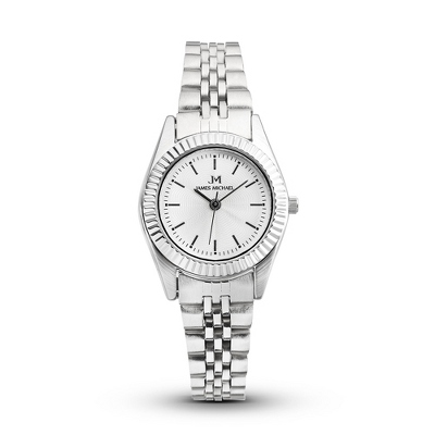 Stainless Steel Women's Watch with White Dial - Women's Watches