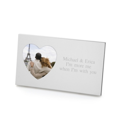 Small Personalized Silver Heart Picture Frame