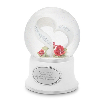 Personalized Anniversary Celebration Snow Globe by Things Remembered