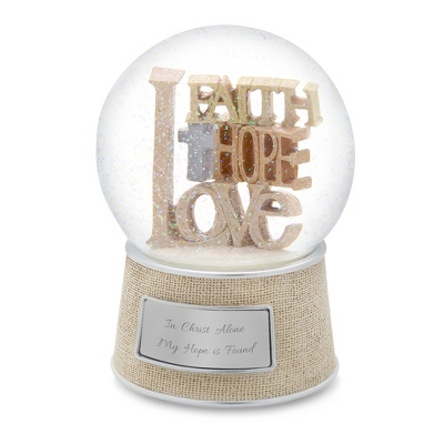 Faith, Hope, Love Snow Globe