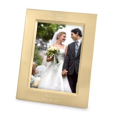 Vera Wang Gold Satin 5x7 Frame - Portrait - UPC 825008060265
