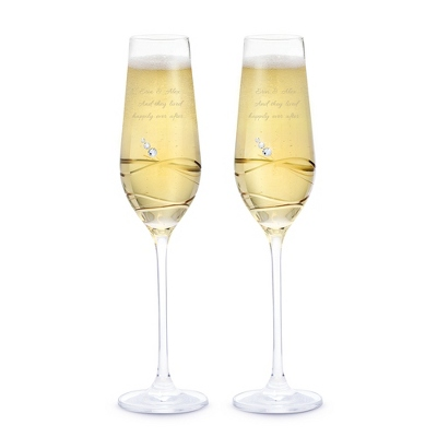 Swarovski Crystal Toasting Glasses Wedding