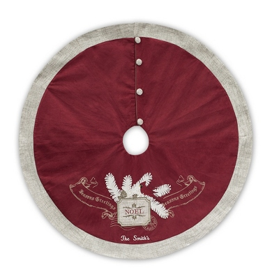 Personalized Cardinal Tree Skirt - Holiday Decor