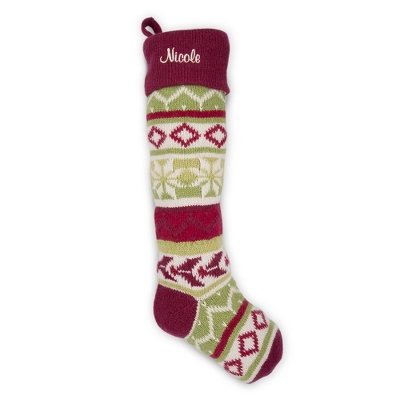 Personalized Red Cuff Stocking