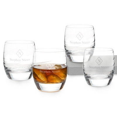 Luigi Bormioli Romantica Double Old Fashioned Set of 4 - Bar Glasses
