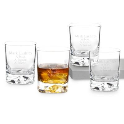 Luigi Bormioli On the Rocks Double Old Fashioned Set of 4 - Bar Glasses
