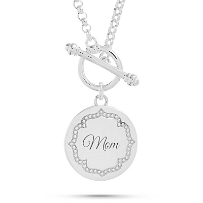 Sterling Silver Beaded Circle Locket Necklace with complimentary Filigree Heart Box