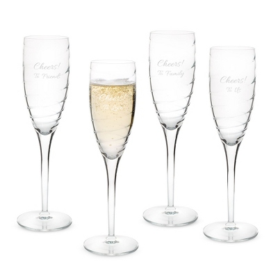 Luigi Bormioli Romantica Champagne Glass Set of 4 - New Drinkware