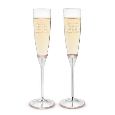 Rose Gold Wedding Toasting Flutes - $60.00