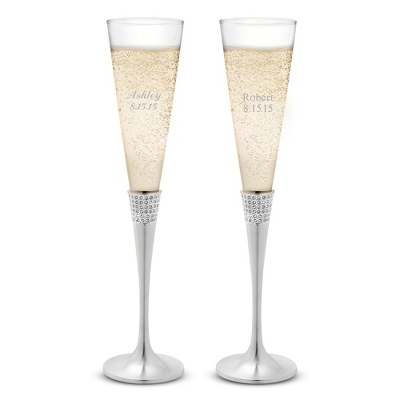 Eternity Wedding Toasting Flutes