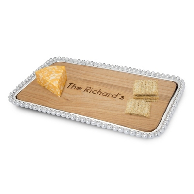 Mariposa Pearled Small Cheese Board - New Gifts for the Home