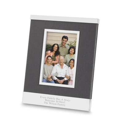 Grey Linen 4x6 Picture Frame - UPC 825008064140