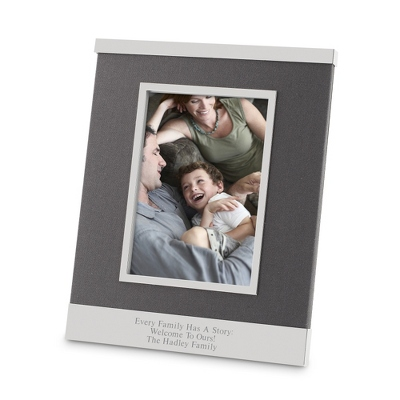 Grey Linen 5x7 Picture Frame