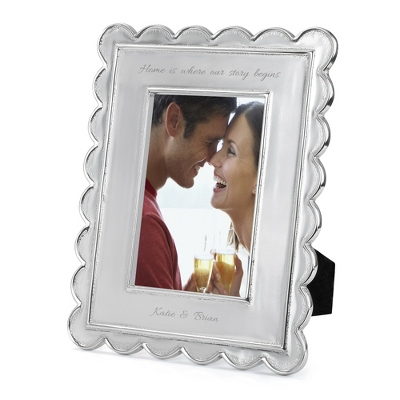 Mariposa Scallop Edge 4x6 Frame - Portrait - Frames for Her
