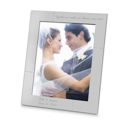 Crystal Accented Silver 8x10 Picture Frame - Portrait