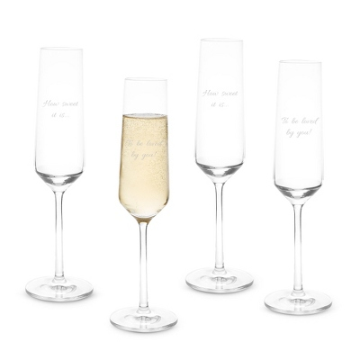 Schott Zwiesel Tritan Pure Champagne Flute Set of 4 - Wine Glasses
