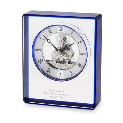 Blue Edge Crystal Clock
